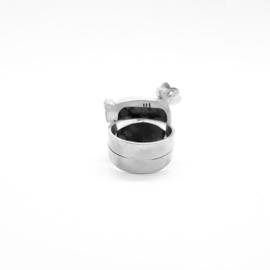 Zilveren ring met sneeuwvlok-obsidiaan