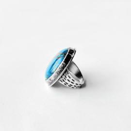 Ring met blauwe jaspis