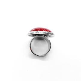 Ring met rode jaspis