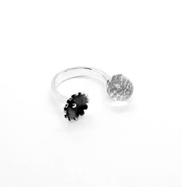 Zilveren ring met bergkristal