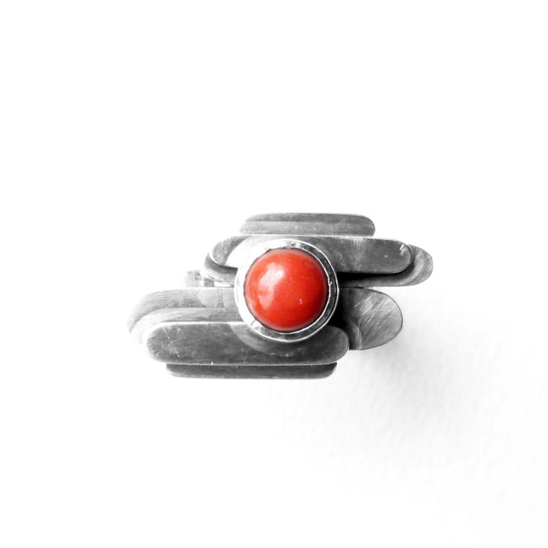 Ring met carneool