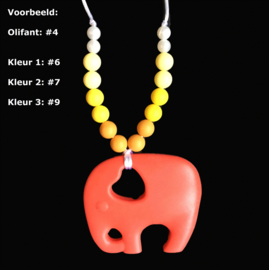 Voedingsketting / Draagketting Olifant