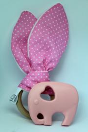 Kraamcadeau  Bijtring Set Roze