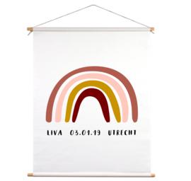Textielposter - Geboorteposter regenboog