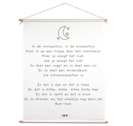 Textielposter - In de maneschijn