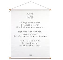 Textielposter - Ik zag twee beren