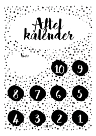 Aftelkalender - Monochrome