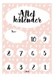 Aftelkalender - Roze