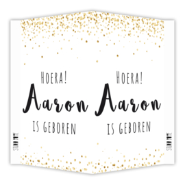 Geboortebord 'AARON'