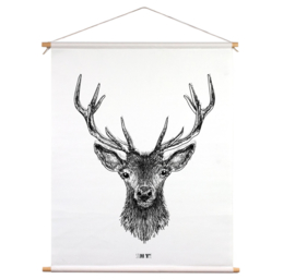 Textielposter - Oh Deer