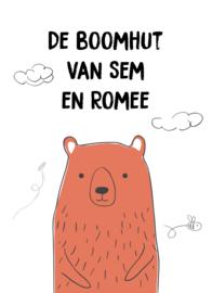 TUINPOSTER - BOOMHUT