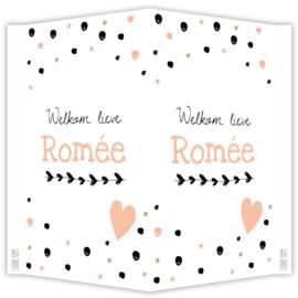 Geboortebord 'ROMÉE'