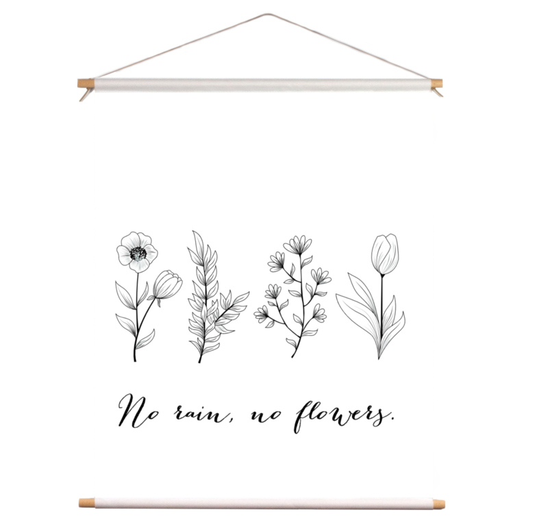 Textielposter - No Rain
