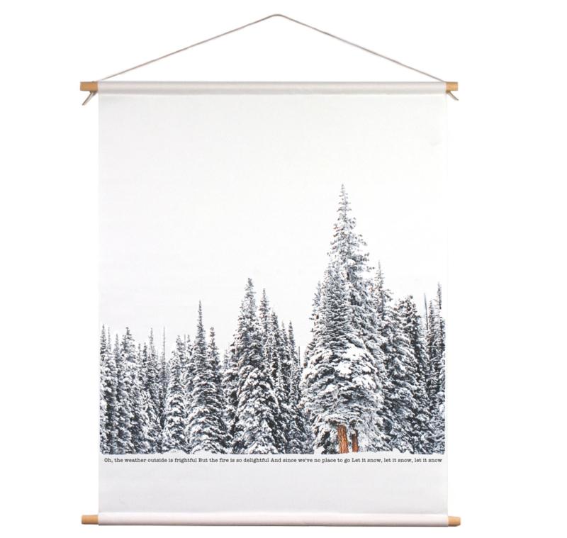 Textielposter - Winter wonderland