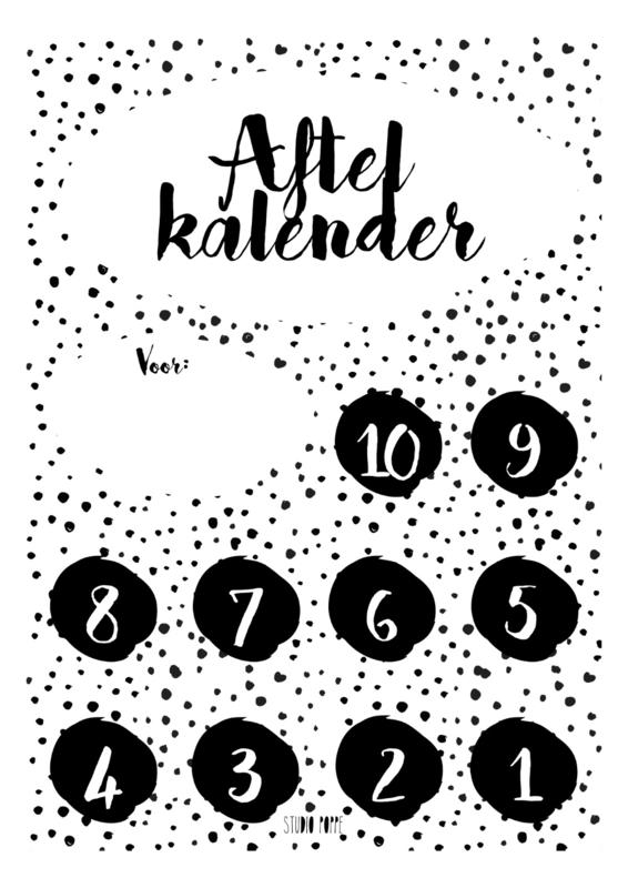 Aftelkalender - Monochrome