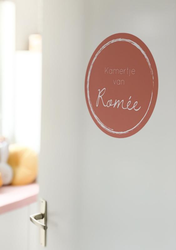 Muursticker kamer oud roze
