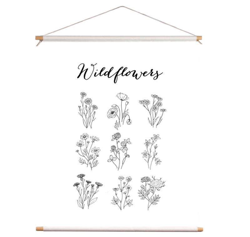 Textielposter - Wildflowers