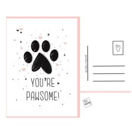 Dogcard - You're Pawsome!