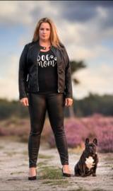 T-shirt Dames - Dog Mom