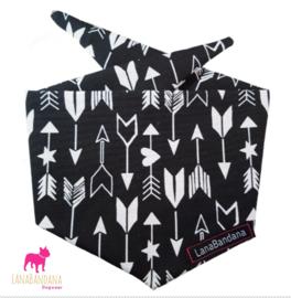 Tie-on bandana | Arrows Black