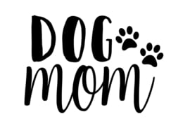 T-shirt Dames - Dog Mom