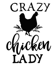 T-shirt Dames - Crazy Chicken Lady 2