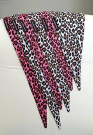 Knoopbandana | Leopard Pink