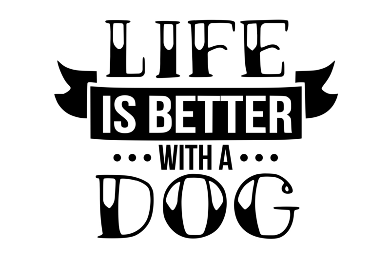 T-shirt Dames - Life Is Better With A Dog