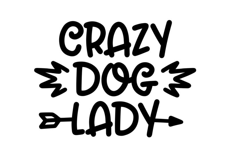 T-shirt Dames - Crazy Dog Lady