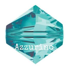 5328 biconische kraal 8 mm blue zircon (229) p/12
