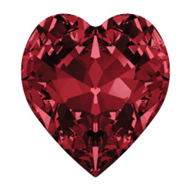 4800 Fancy Stone heart 6.6 x 6 mm siam F (208) p/6