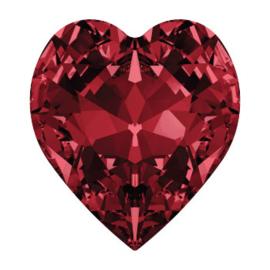 4800 Fancy Stone heart 11 x 10 mm siam F (208) p/6