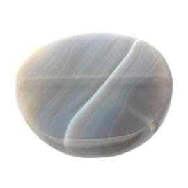 kraal agaat grijs rond 48 mm  p/stuk