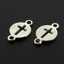 Hanger / bedel 2 ogen circle/kruis SPL+40 Mils p/10