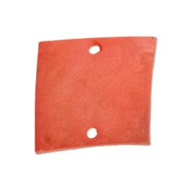 tussenzetsel schelp vierkant 2 gaatjes 17 x 17 mm rood  p/10