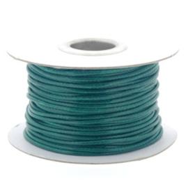 Soft waxkoord / slangenkoord 2mm p/30 meter groen