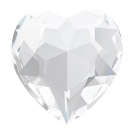 4800 Fancy Stone heart 6.6 x 6 mm crystal F (001) p/6