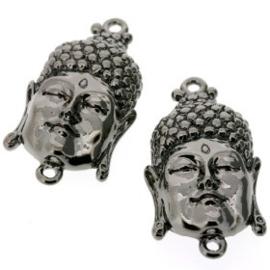 Decoratieve hanger buddha klein gesloten ogen BNPL 33 x 20mm p/3