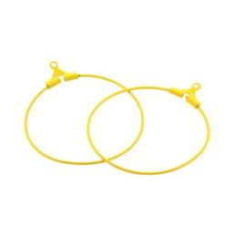 oorbel ornament 30mm p/6 paar oker geel