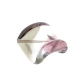 glaskraal twist 18 x 18 mm handgemaakt paars