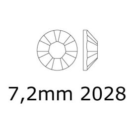 2028 plaksteen 7,2 mm / SS 34 citrine F (249) p/12