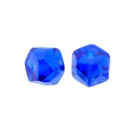 glaskraal rondell 6 x 9 mm kobalt p/20