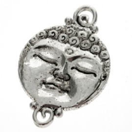 decoratief ornament buddha gezicht cirkel 2 oog AS 38 x 24mm p/6
