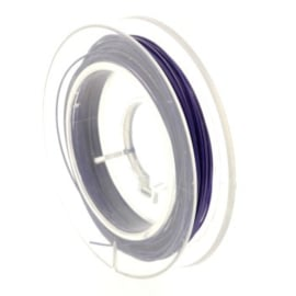 staaldraad 0.38mm nyloncoated aubergine p/6 mtr p/5 rolletjes