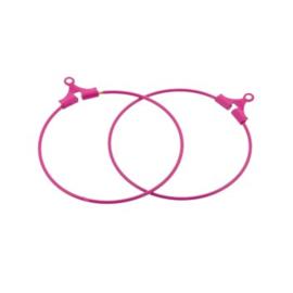 oorbel ornament 30mm p/6 paar roze
