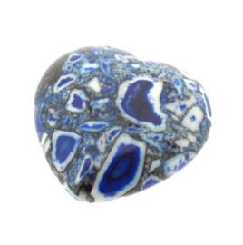 kraal composiet stenen hart blauw (20 x 20 mm) p/10
