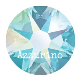 2028 plaksteen 6,5 mm / SS 30 aquamarine AB F (202 AB) p/25