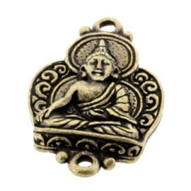 Decoratief ornament Buddha 2 ogen 36 x 23mm MAG p/3