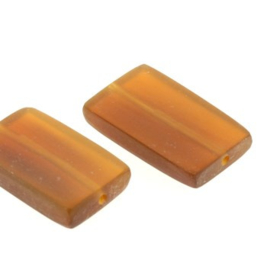kraal golden horn plat rechthoek 22 x 13 mm zakje +/- 20 stuks