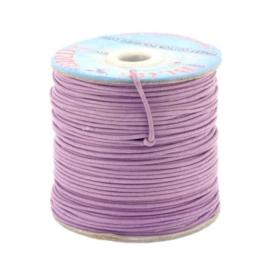 waxkoord 1.5 mm rol p/100 meter lila/paars